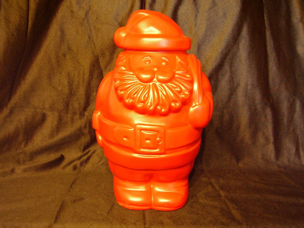 Santa Blow Mold Refillable Container Candy Jar