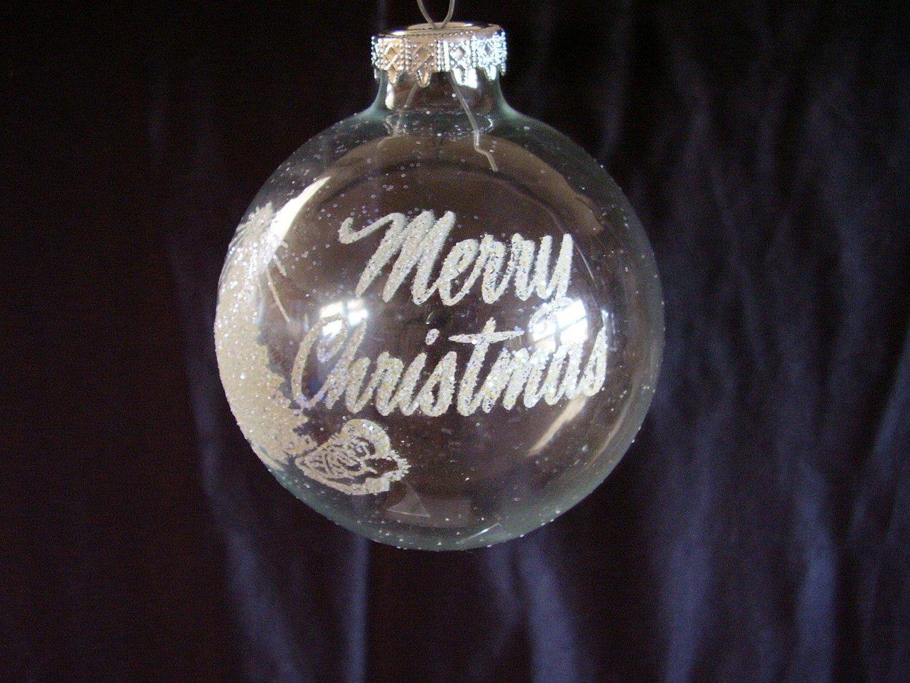 Bronner Christmas Ornament Hungary Stenciled Glitter