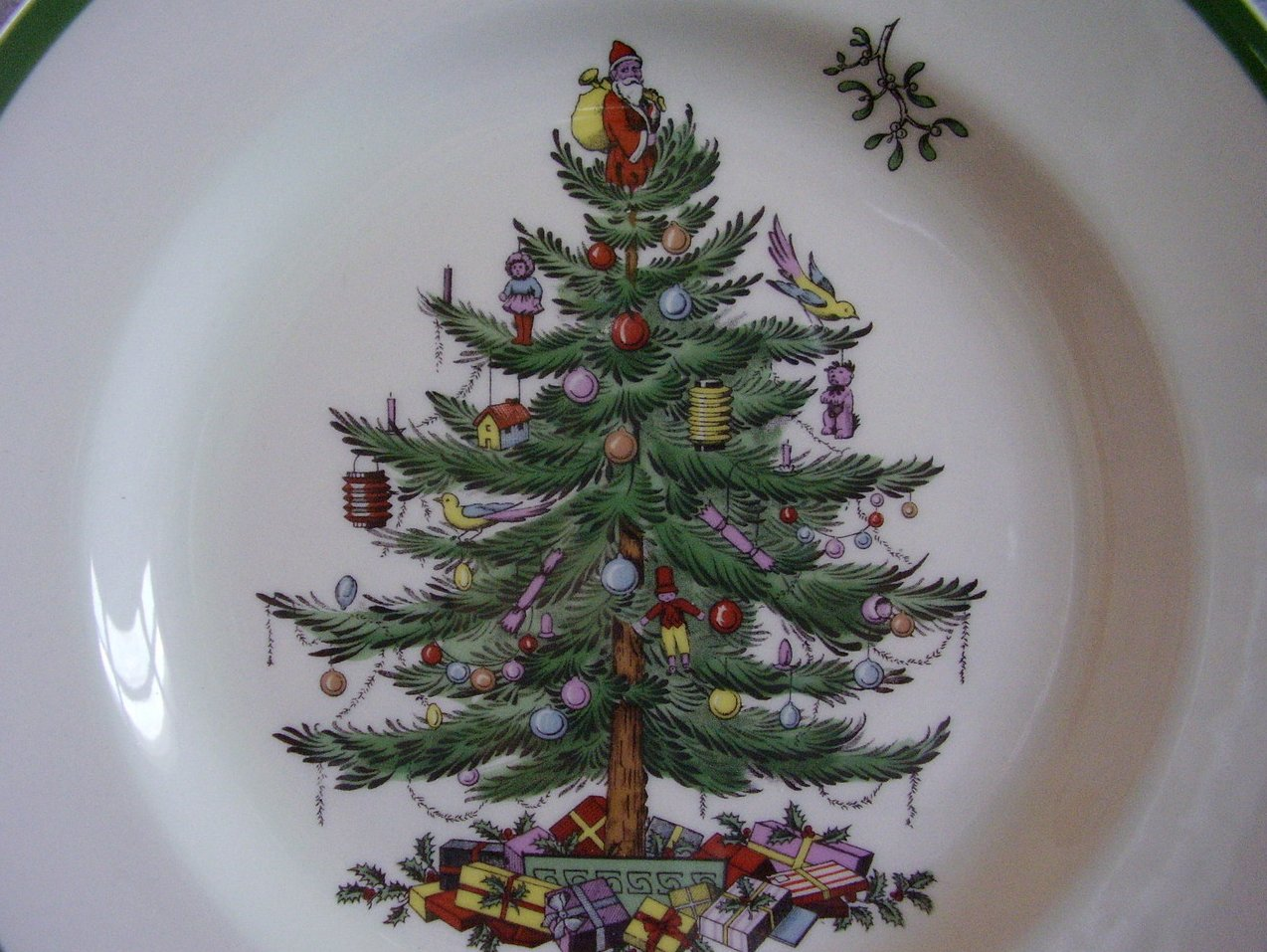 '.Spode Christmas Tree Plate.'