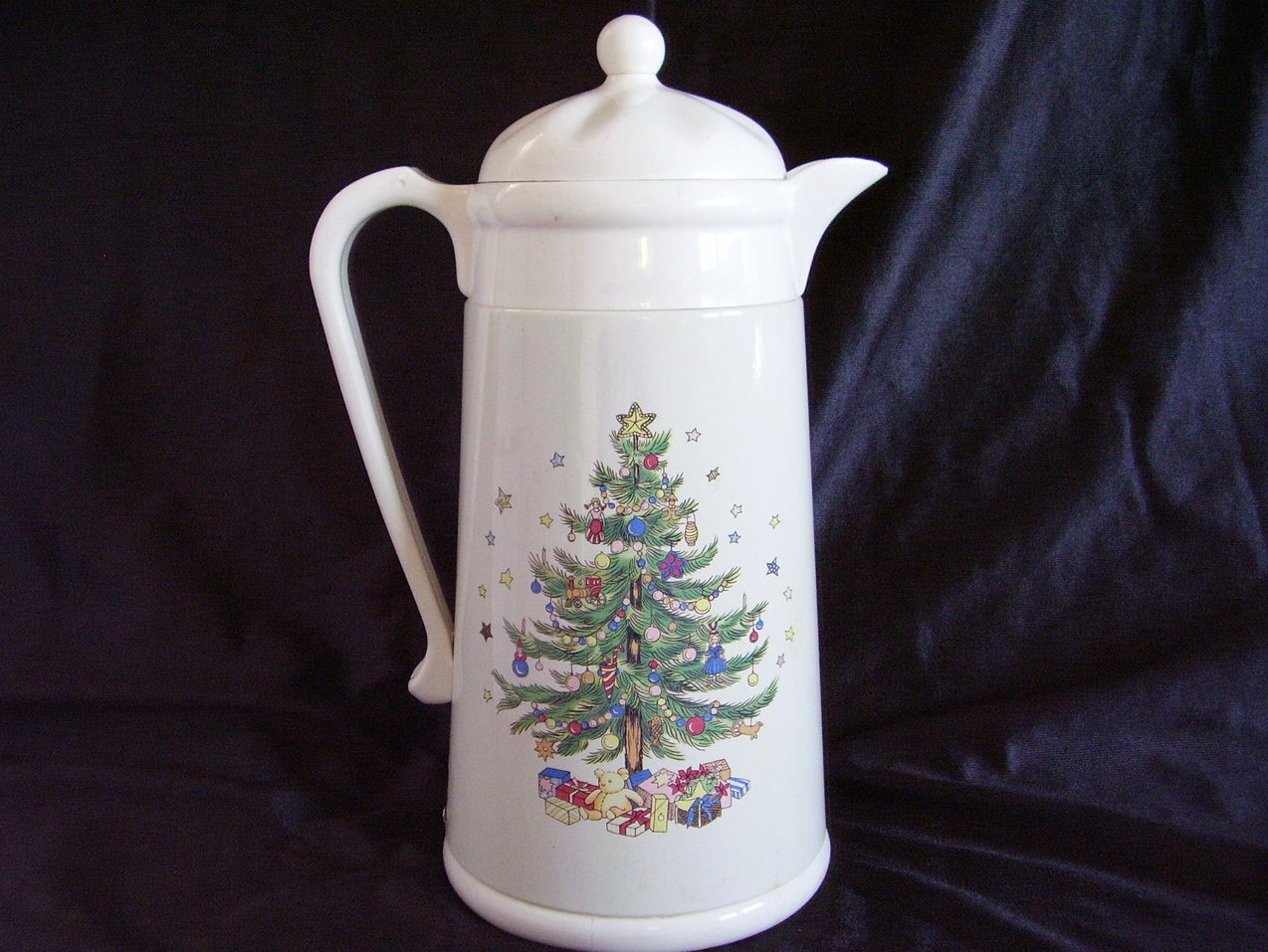 Image 1 of Nikko Ceramics Happy Holiday Thermal Insulated Carafe Christmas Tree