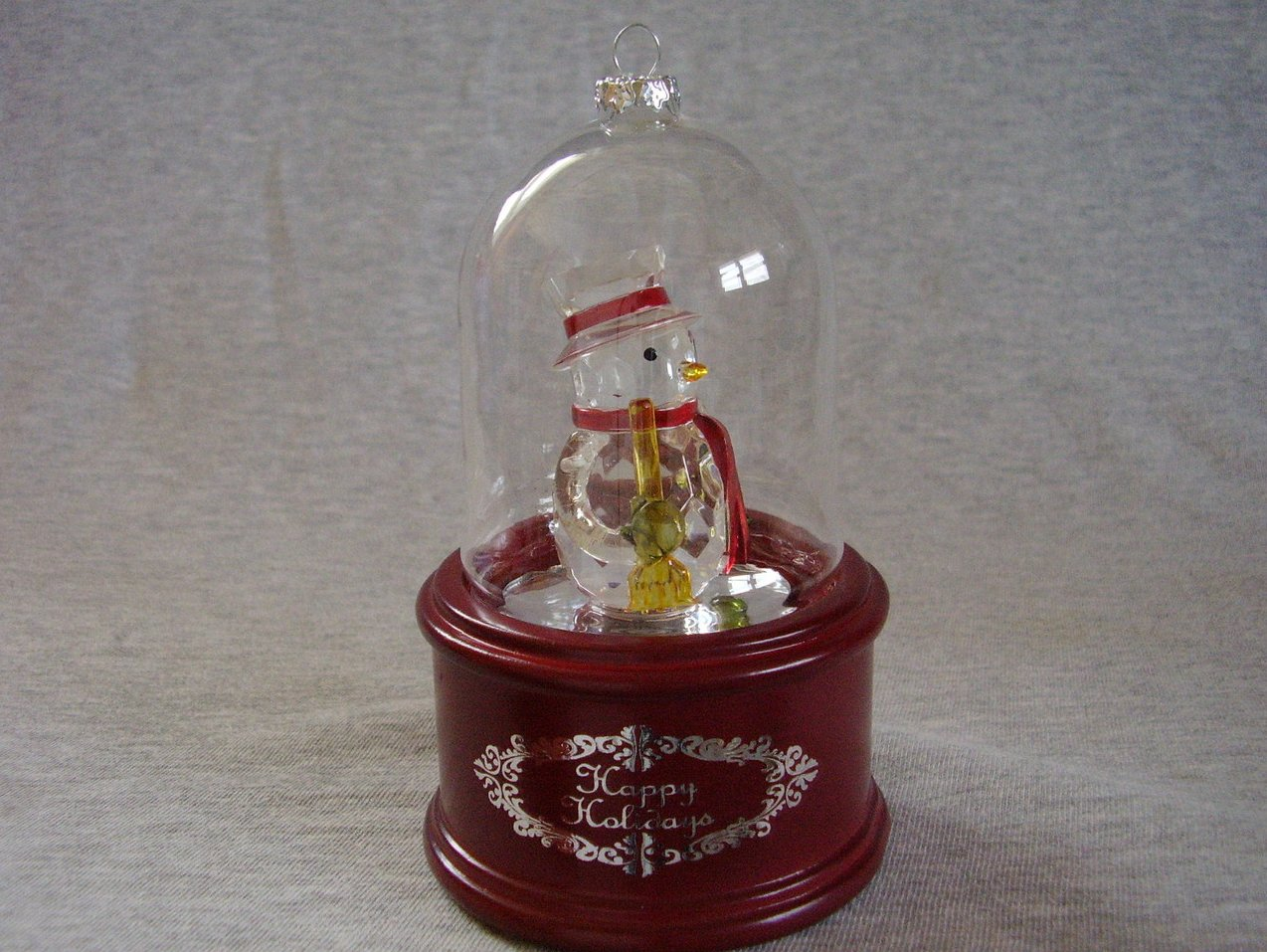 Mr Christmas Deluxe Dome Lighted Musical Snowman Ornament Table or Hanging