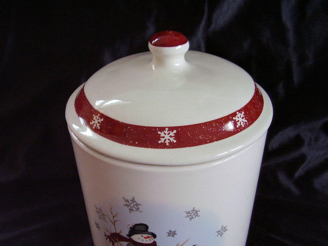 Royal Seasons Snowman Canister