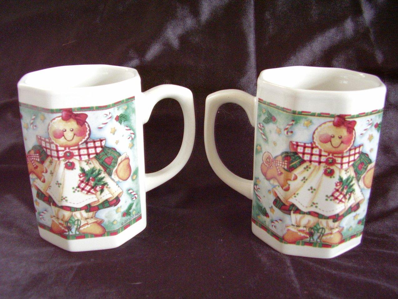 '.2 Ceramic Christmas mugs.'