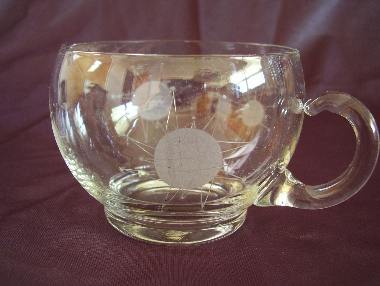 Star Sun Glass Creamer Rare