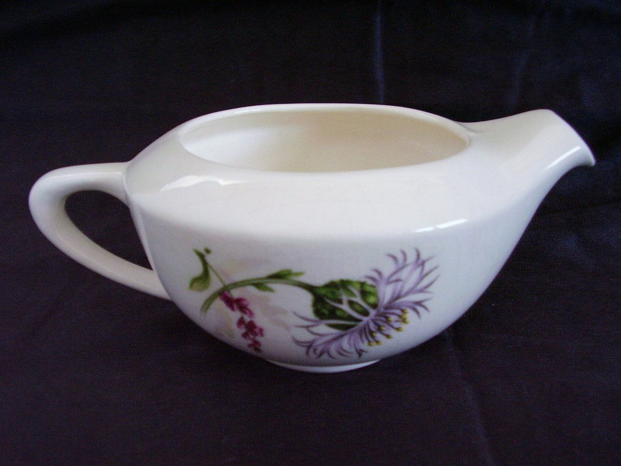 American Limoges Glamour Thistle Creamer