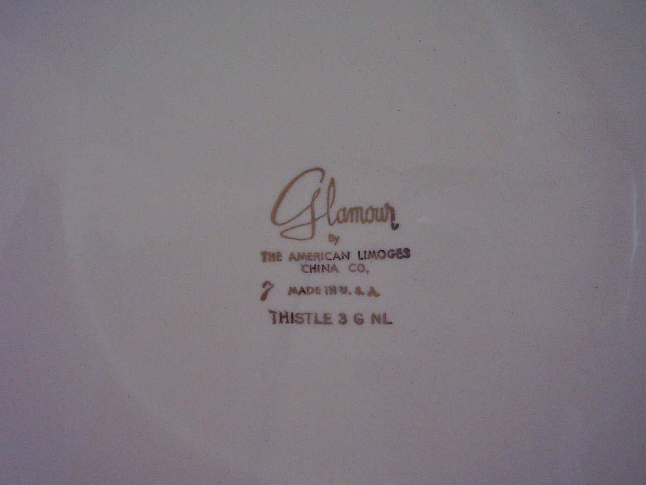 American Limoges Glamour Thist