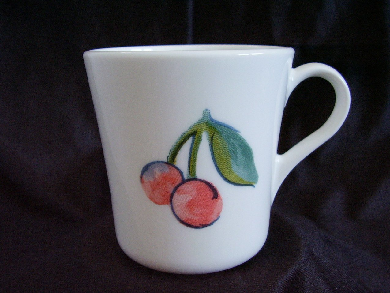 Corelle Fruit Too Coffee Cup Mug Cherries Apples