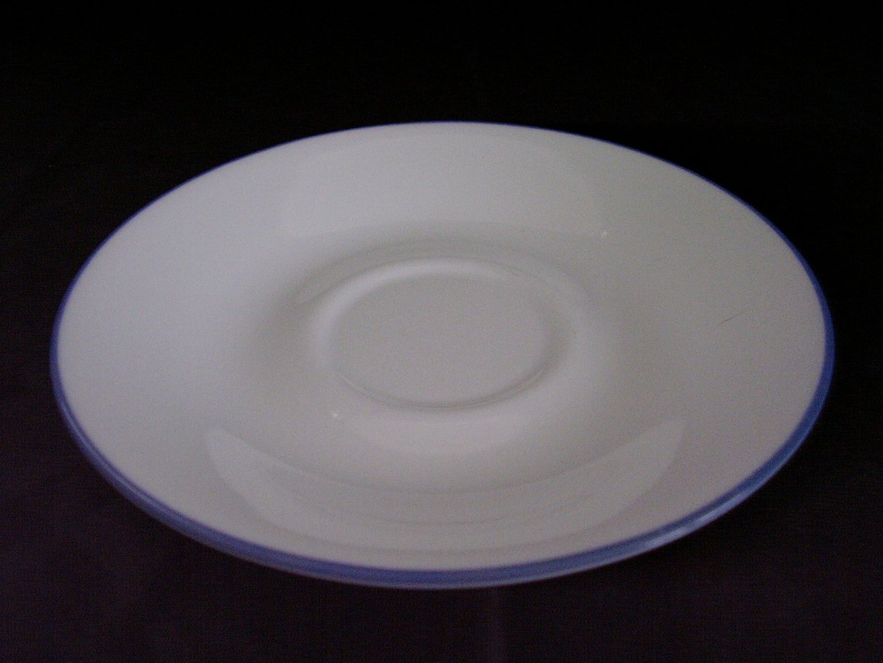 Corelle Fruit Basket Fruit Too Saucer White Blue Band