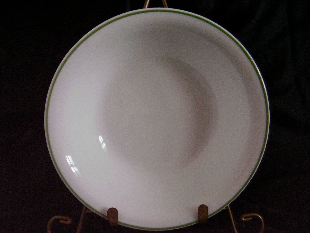 '.Corelle White Green Band Soup .'