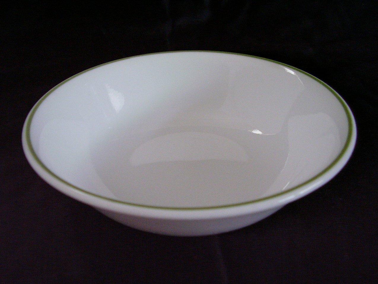 Corelle White Green Band Fruit Bowl