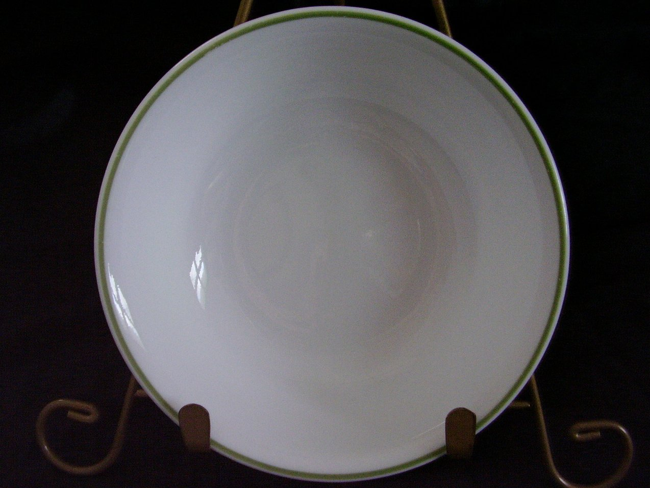 Corelle White Green Band Fruit
