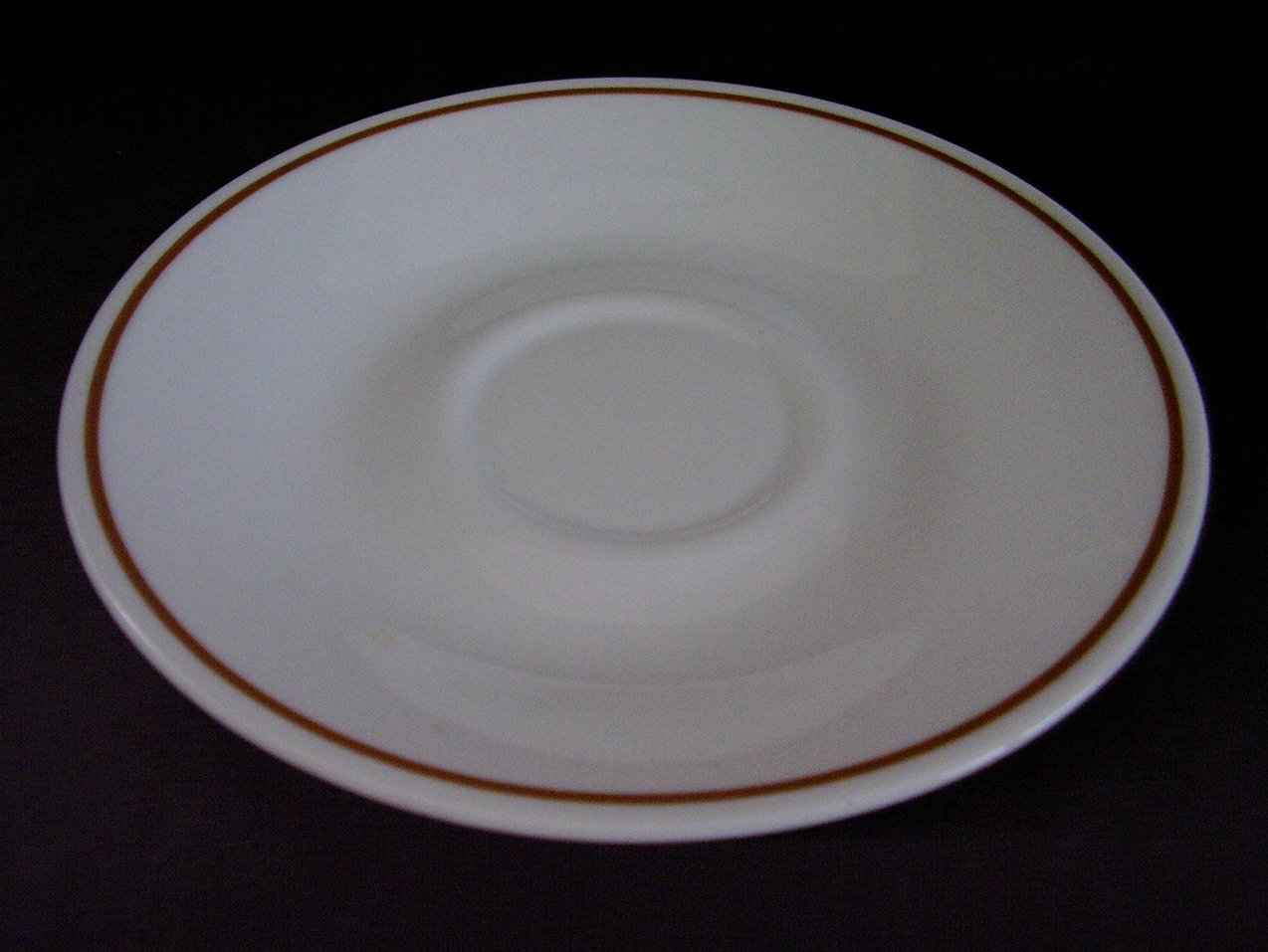 Corelle Indian Summer Saucers White Brown Band