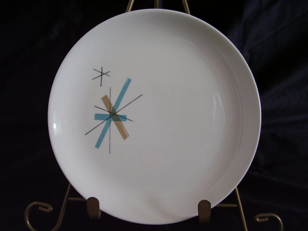 Salem China North Star Bread Plate Mid Century Eames
