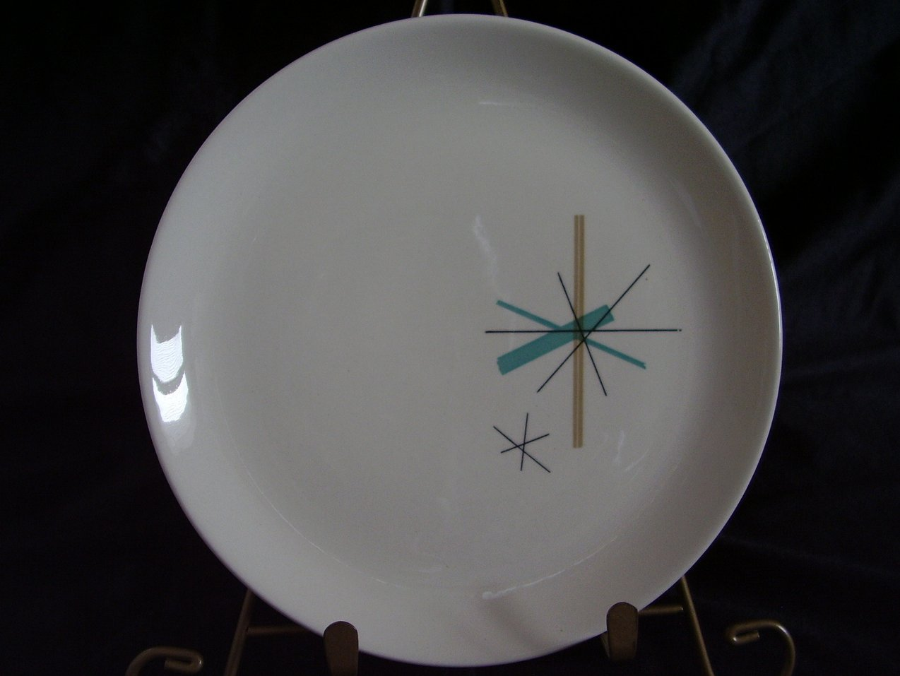 Salem China North Star Salad Cake Plate MidCentury Eames