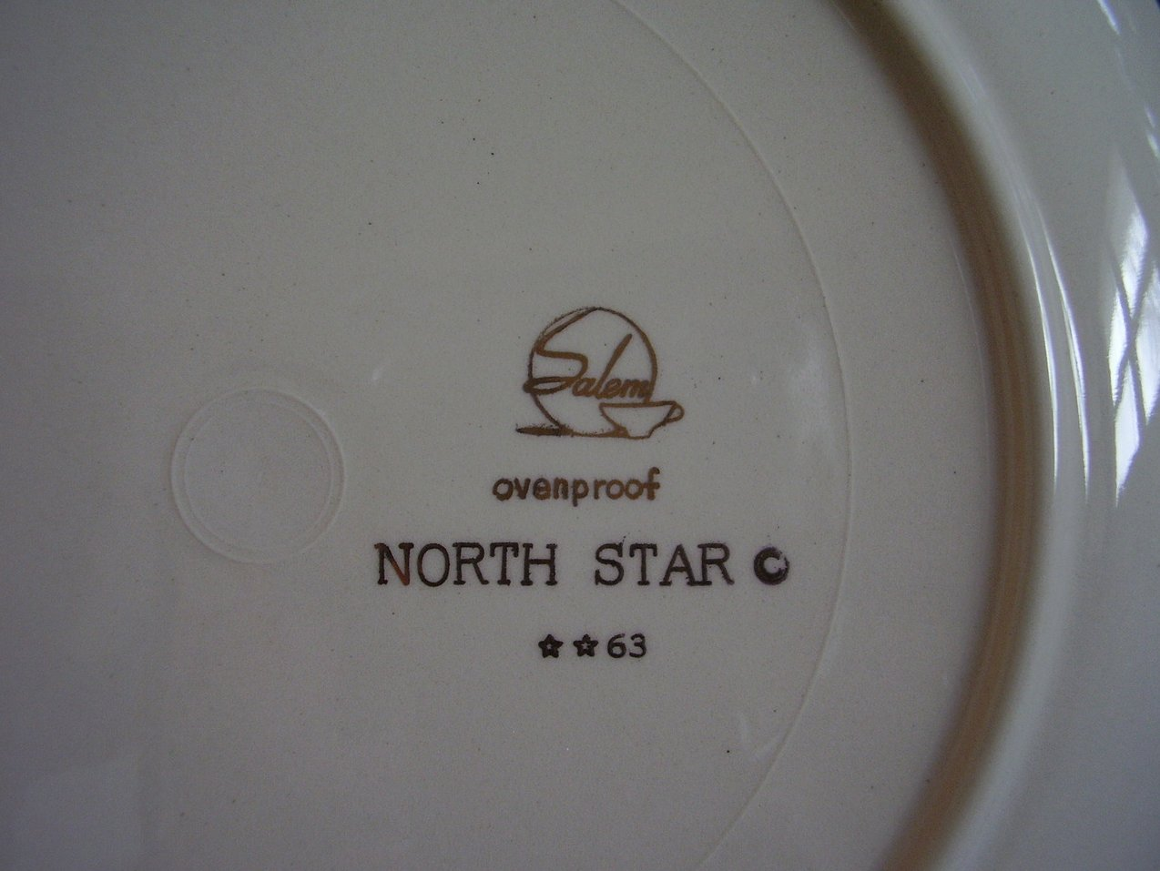 Salem North Star Salad Plate