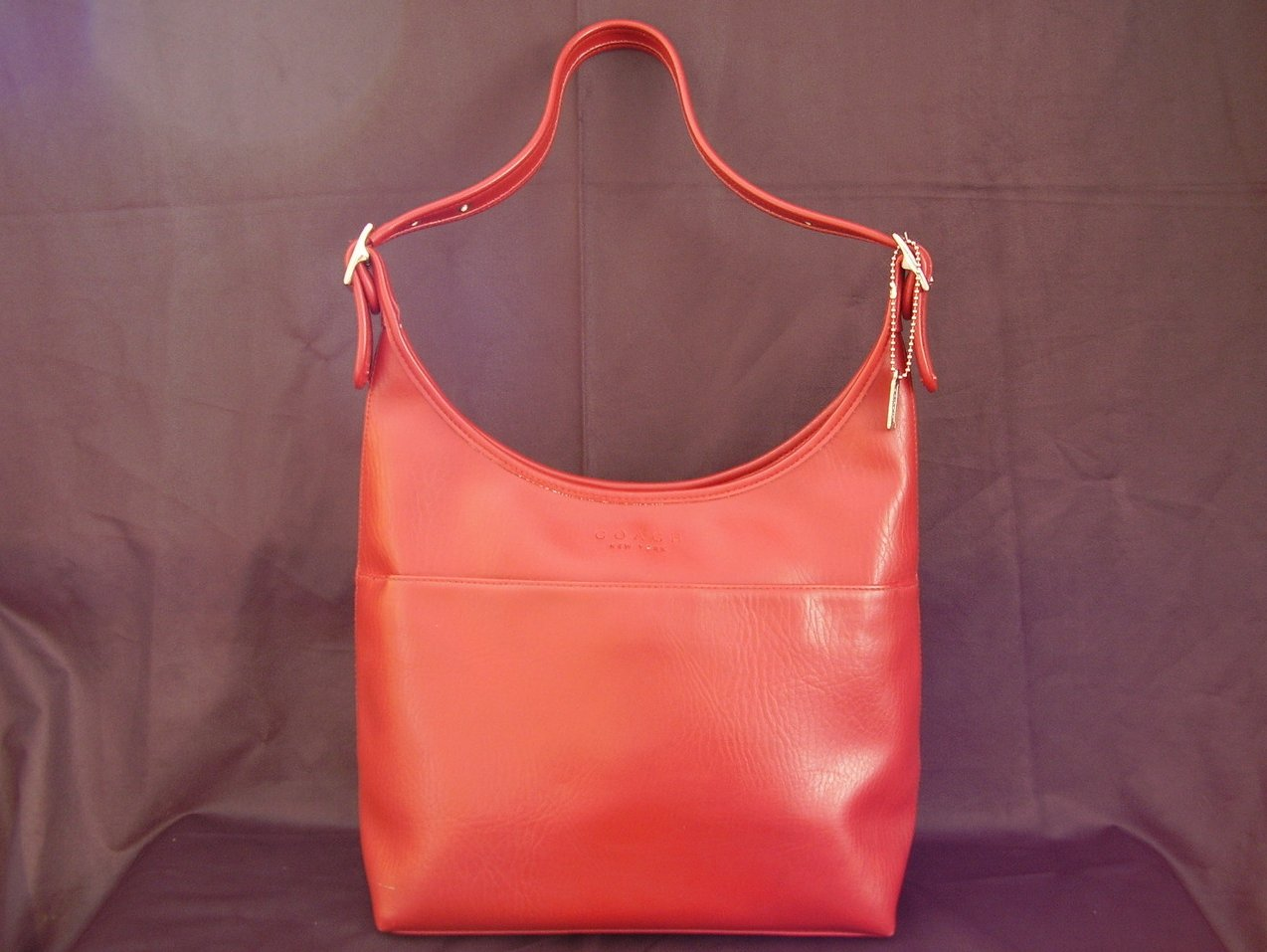 Small Bucket Zip Purse Handbag Tomato Red
