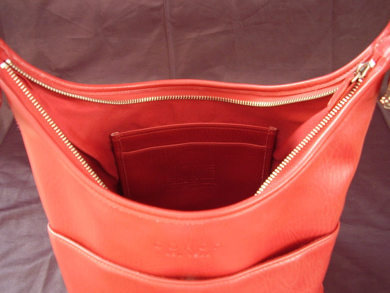 Small Bucket Zip Purse Handbag