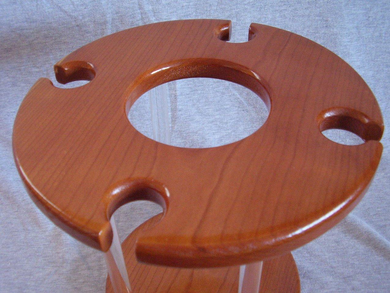 Handmade Cherry Wood & Acrylic