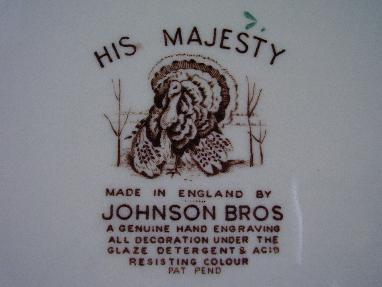 Johnson Bros His Majesty Plate