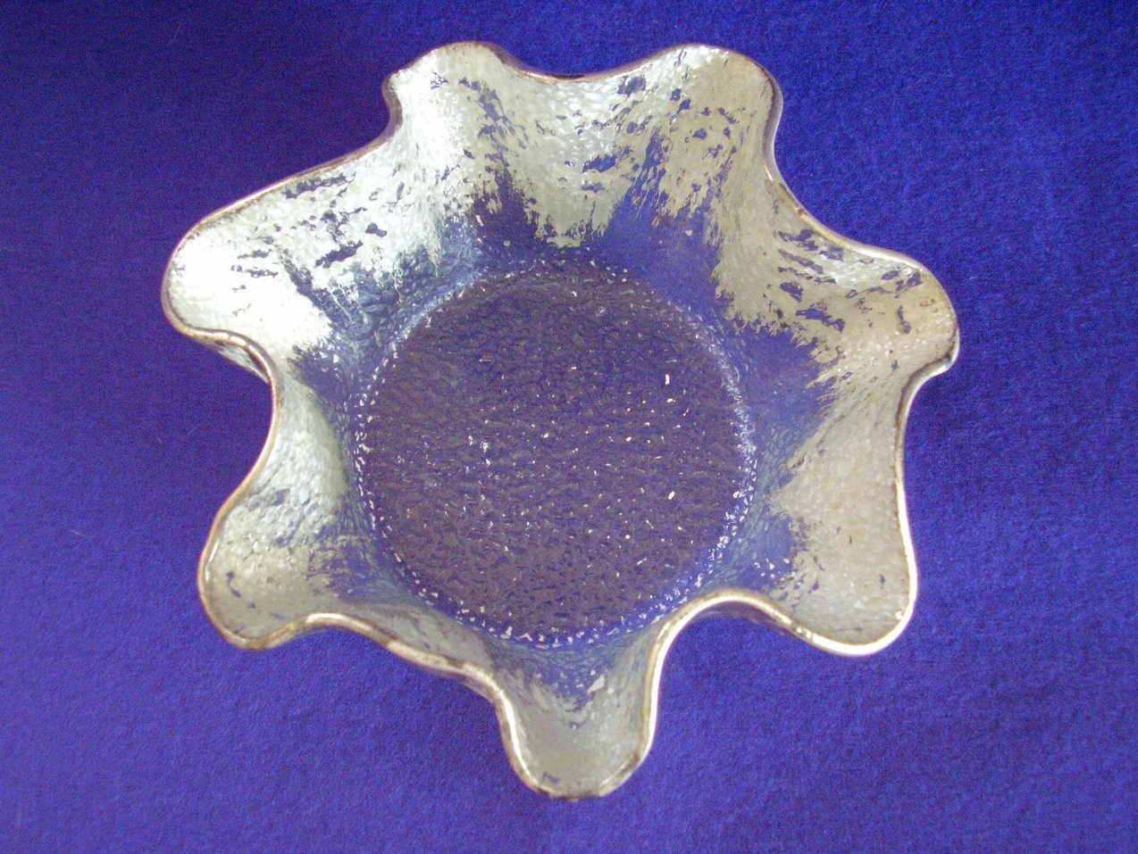 Ruffled Edge Silver Wash Dish