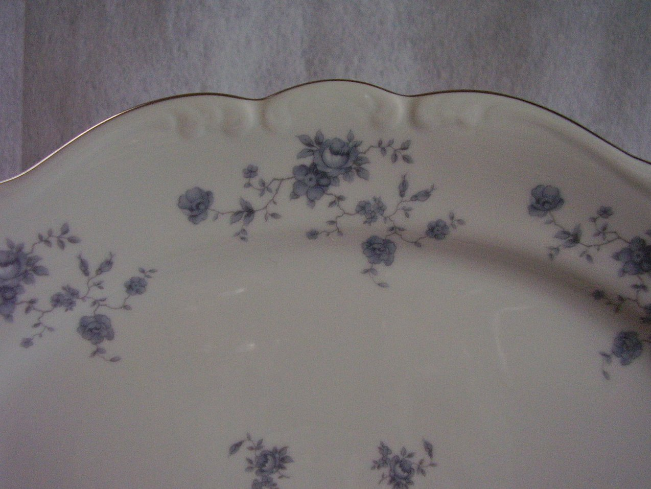 Haviland Blue Garland Platter