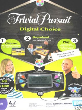 Trivial Pursuit Digital Choice Game Parker Brothers New in box