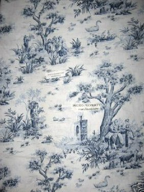 American Country Toile Cotton Fabric 58 wide By the Yard