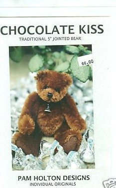 Sewing Pattern  5 Jointed mohair chocolate kiss bear to sew