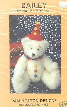 Clown bear 12 Bailey Sewing pattern to sew can use Mohair