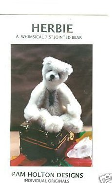 Sewing pattern  for a 7.5 Jointed mohair Herbie bear
