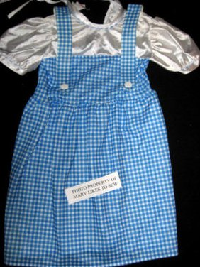 Dorothy Wizard of Oz Licensed Childs Costume Size Medium gently used