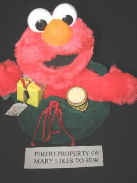 Sesame street Christmas Elmo Telco Motionette display figure only not a toy NWT
