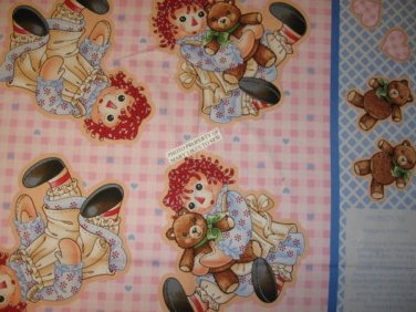 Raggedy Ann two baby Doll kit or Applique panel to sew