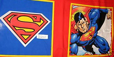 Superman DC Comics New Set of two Fabric pillow panels to sew