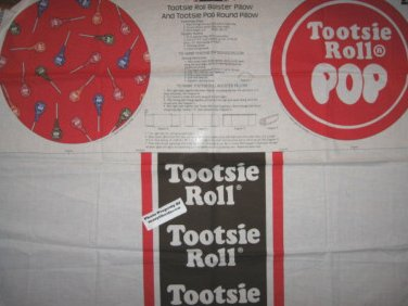 Tootsie Pop round bolster fabric pillow panel set to sew rare