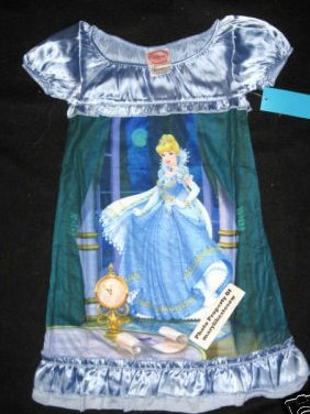 Disney Store Cinderella Little Girls Nightgown CHILD SZ 4 NEW