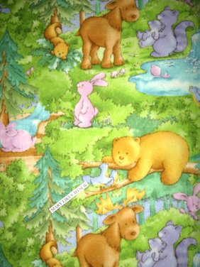 Baby jungle animals fleece bed blanket 60X72 with Licensed Patty Heck fleece