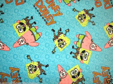 Image 0 of SpongeBob and Patrick Baby or toddler blanket Handmade
