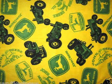 Image 0 of John Deere Historical Tractors yellow Licensed handmade fleece baby blanket