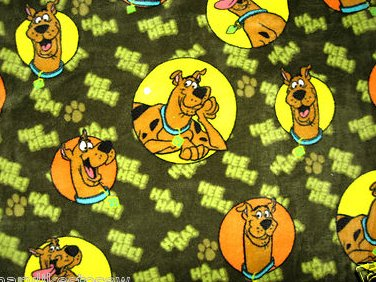 Image 0 of Scooby Doo dark green  fleece blanket 29 inch by 36 inch handmade