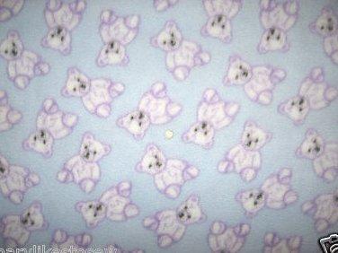 Image 0 of Teddy bears boy child bed size fleece blanket