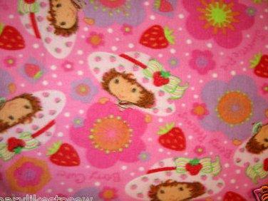 Image 0 of Strawberry Shortcake in her Hat  blanket  Handmade with licensed fleece