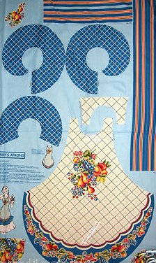 Image 0 of Fruit pears peaches grapes Adult Aprons One Cotton Fabric apron Panel to sew