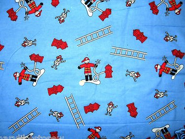 Fireman Ladder Dog Double flannel blanket for baby or toddler 36X40