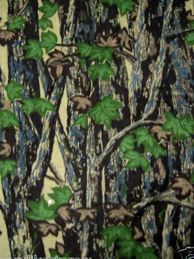 Camo Camouflage trees hunter Dad man cave Fleece blanket