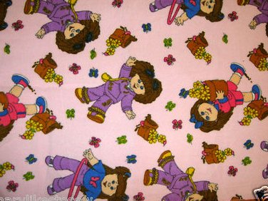 Cabbage Patch dolls and flowers baby blanket Handmade with licensed fleece