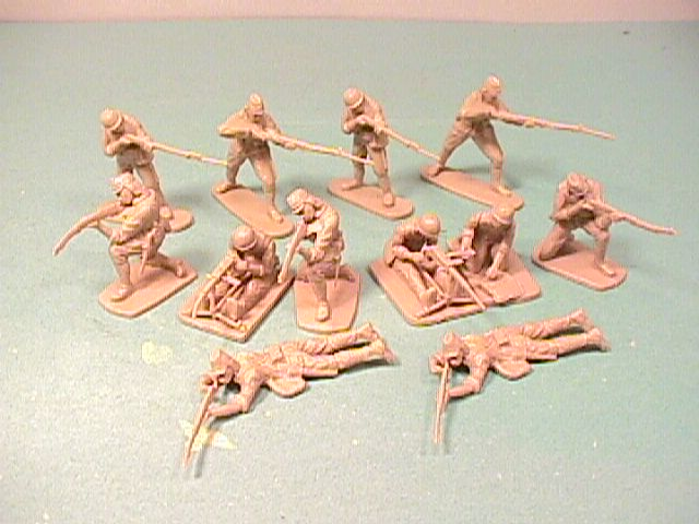 CTS 1/32nd Scale World War II Japanese Plastic Soldiers Set