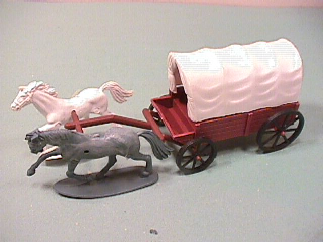 Brown Western Plastic Covered Wagon #2