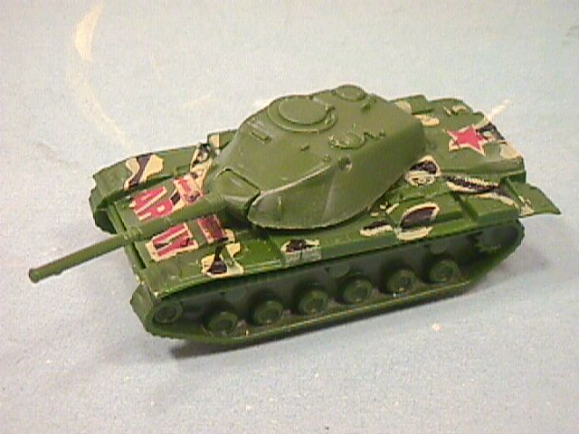 HO Scale Hard Plastic Green Army Tank