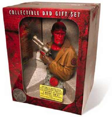 Thumbnail of Hellboy Collectible 3-DVD Gift Set with Sideshow statue - RARE New Sealed